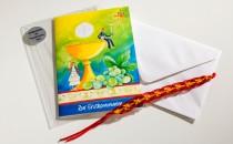 Glückwunschkarte im handelsgerechten Gebinde (Bundle) mit Folie, Kuvert und Add-on-Produkt