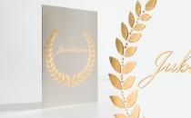 Glückwunschkarte mit Blindprägung