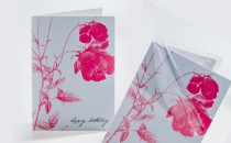 Glückwunschkarte im Endformat 10,5 x 14,8 cm, foliert