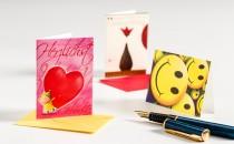 Glückwunschkarten im Miniformat; mit Kuvert